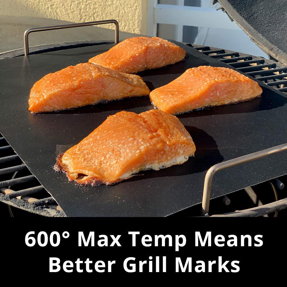 Set of 3 Mats Kojin BBQ Grill Mat 15.75 x 13 Heavy Duty 600 Degree Non-Stick Mats