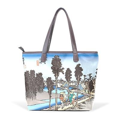 7bc56ae93f best Ukiyoe Ukiyo-E Print Japanese Art Women s Fashion Large Shoulder Bag  Handbag Tote Purse
