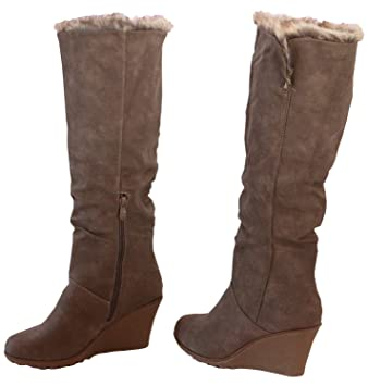 f106621d02b8a1 Damen Stiefel Fellstiefel Winter Schuhe Boots Damenstiefel braun Kaki beige