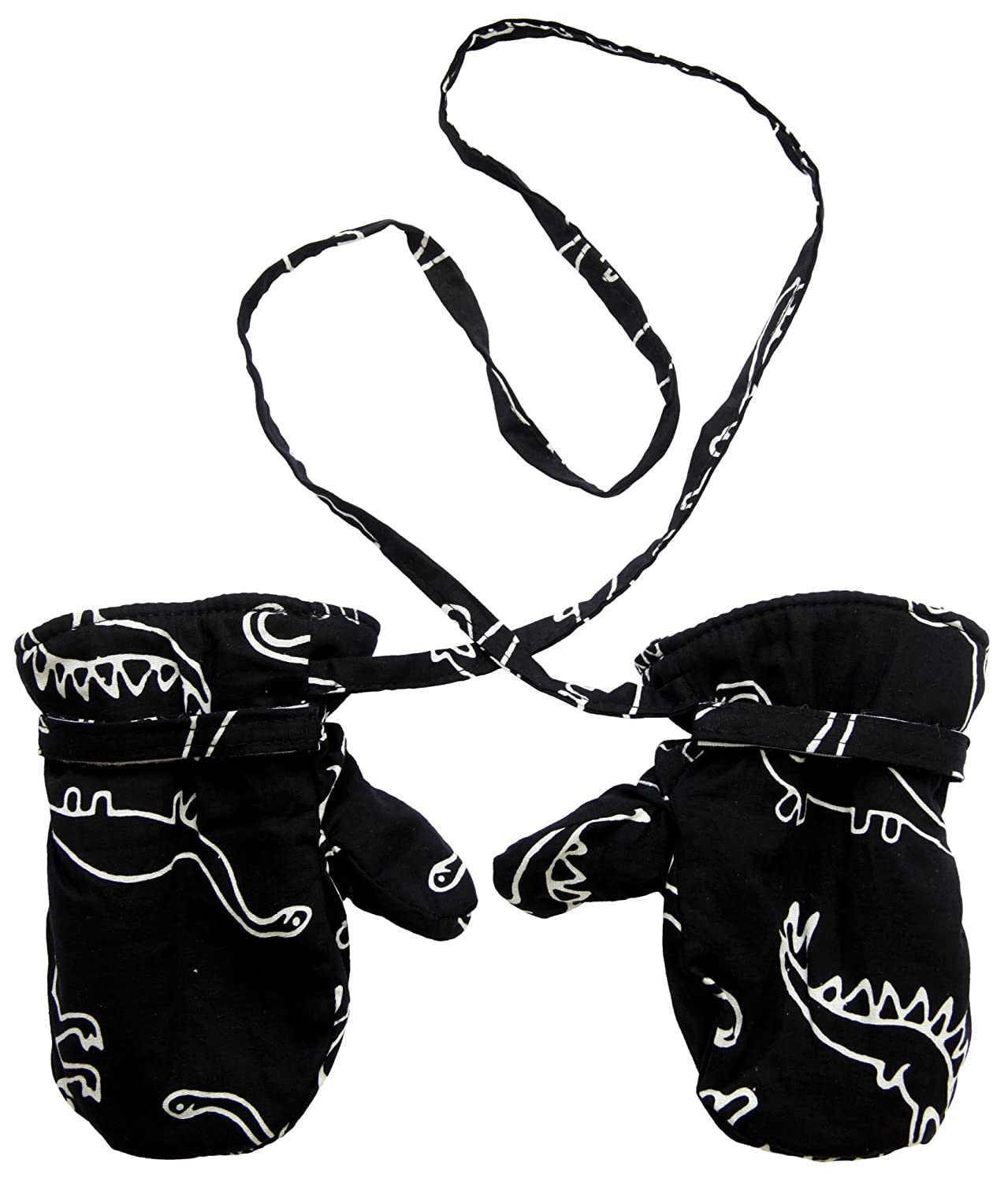 Back From Bali Boys Baby Toddler Mittens String Micro Fleece Warm Winter