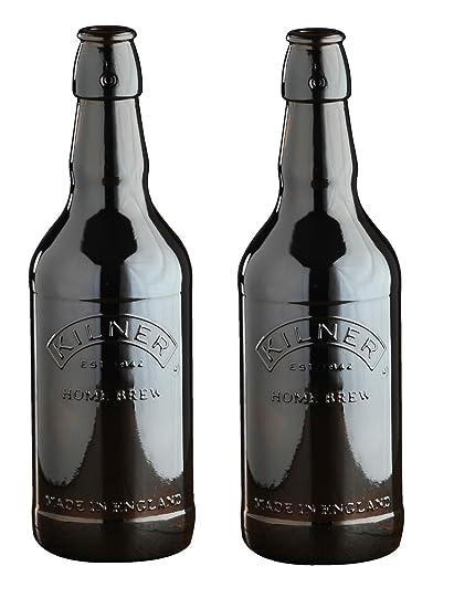 Kilner bebidas funciona botella botellas de balliihoo Homebrew cerveza botella de cristal marrón Malta sidra,