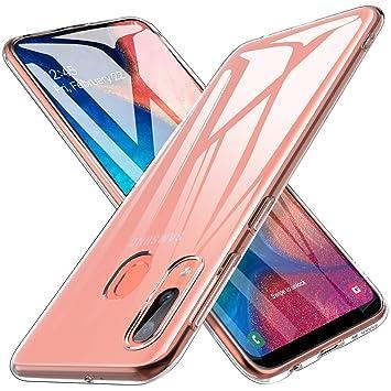 iBetter para Funda Samsung Galaxy A20e Funda, TPU con Superficie Mate Silicona Fundas para Samsung Galaxy A20eSmartphone.Transparente