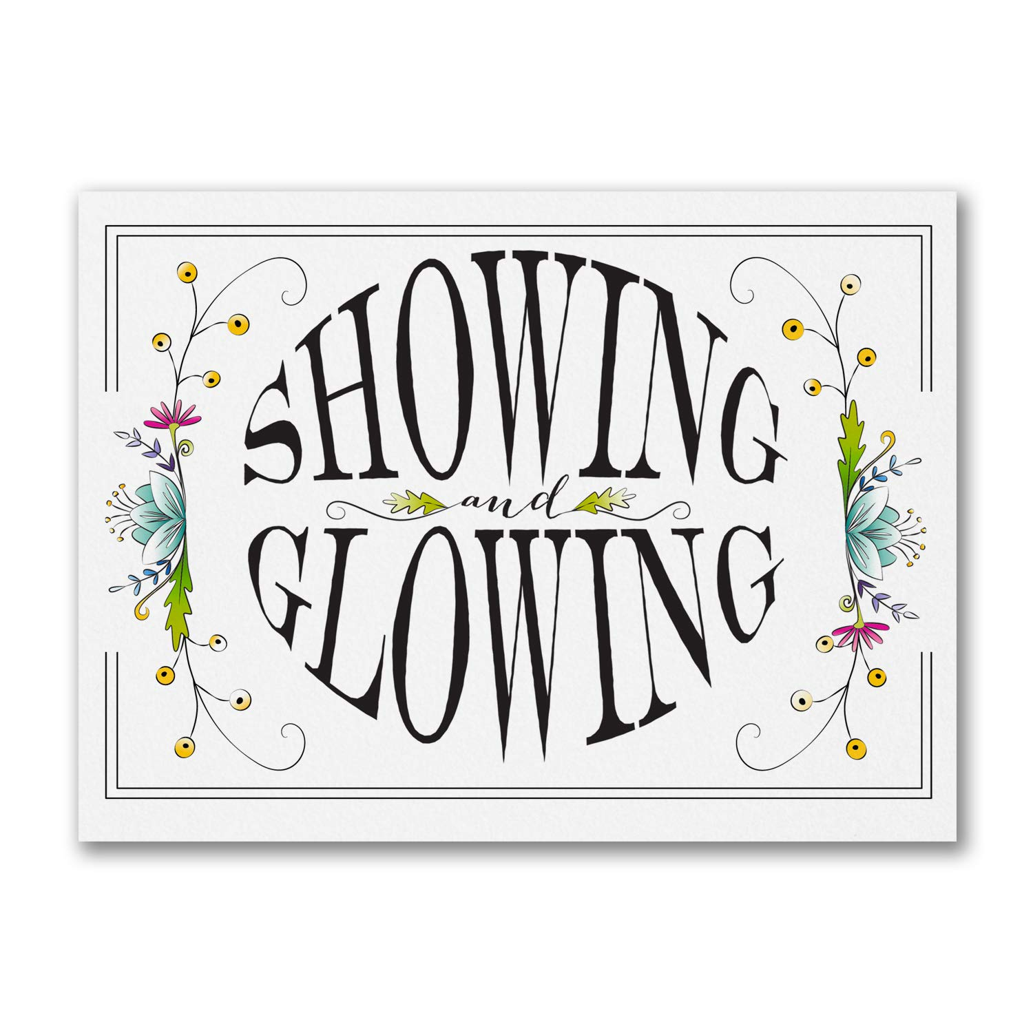 200pk Showing and Glowing - Baby Shower Invitation-Baby Shower Invitations