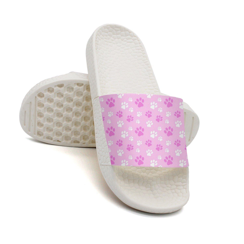 HSJDAPOCOAQ Love Dog Paw Cute Summer Slippers For Women