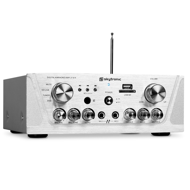 Skytronic Amplificador HiFi PA Karaoke MP3-USB-SD 400W Skytec