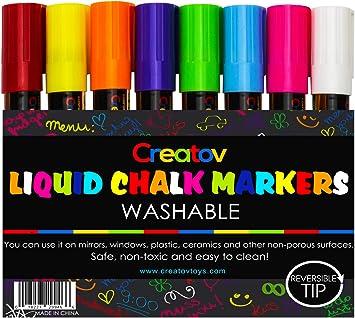 Liquid Chalk Markers Chalkboard Pens 8 Pack Window Marker Chalk Pens For Blackboards Erasable Chalk Blackboard Pen Chalkboards Washable Wet Dry
