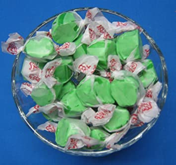 Green Apple Flavored Taffy Town Salt Water Taffy 2 Pounds