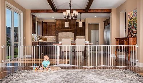 Best dog gates for wide openings: Regalo 192-Inch Super Wide Adjustable Baby Gate