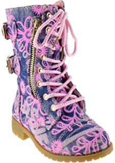 c71d8a45083 Forever Link Girls Mango 61K Lace Up Boots