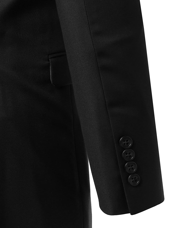 Youstar Mens Contemporary Classic Slim Fit 2pcs Suit Blazer /& Dress Pants