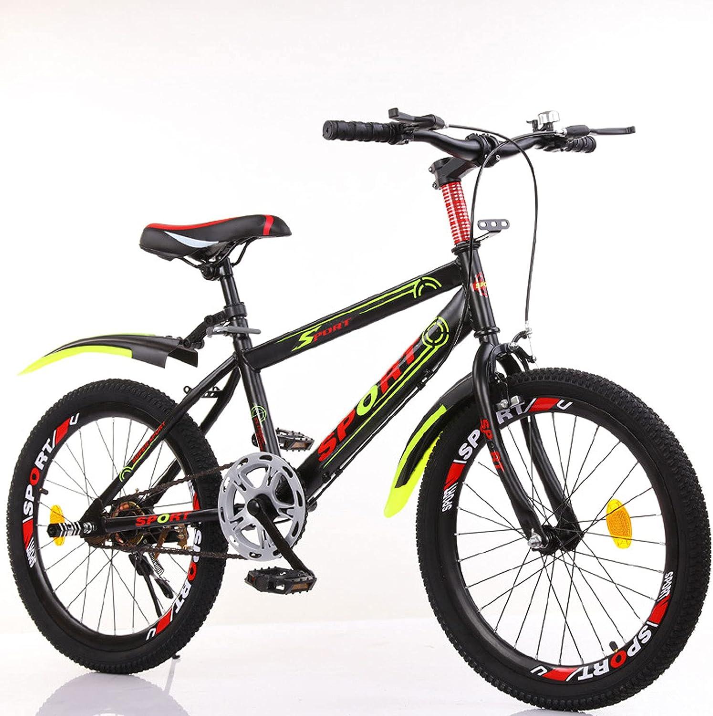 DWXN Bicicleta de 24 Pulgadas Chicas Black Single Speed Bike Mountain Bike Antideslizante Ruedas Gruesas Neumático de Grasa Alto Marco de Acero de Carbono