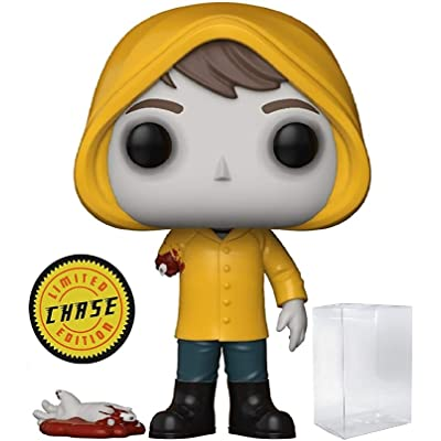 Funko Pop! Movies: Stephen King's It - Bloody Arm Georgie Denbrough CHASE Variant Limited Edition Vinyl Figure (Bundled with Pop Box Protector Case): Toys & Games