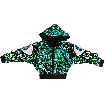 unbrand Trajes de los niños Niñas Moderno Jazz Hip-Hop Dancewear Ropa de  béisbol Lentejuelas 2f9cb237fe9
