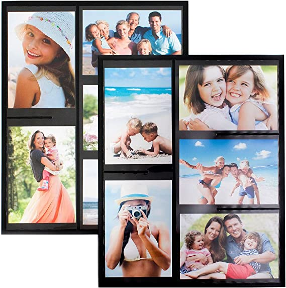 Wind Sea Magnetic Picture Collage Frame For Refrigerator 2 Pack Black Amazon Com