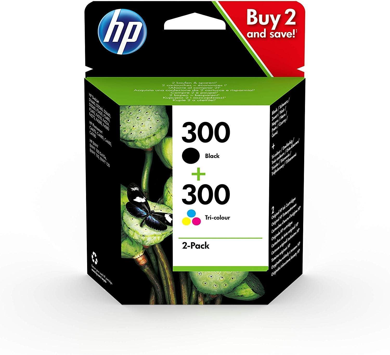 HP CN637EE 300 Cartucho de Tinta Original, 2 unidades, negro y ...