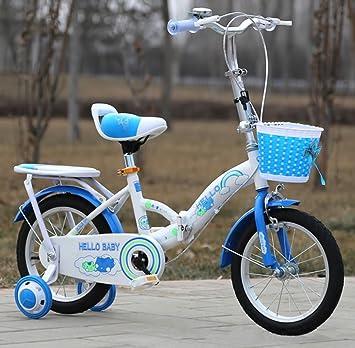 YEARLY Bicicleta plegable infantil, Bicicleta plegable estudiante Bicicleta del bebé Cochecito Ultra ligh Portátil Bicicleta