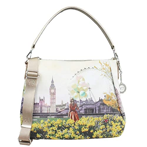 BORSA DONNA Y NOT  SHOULDER BAG FLOWER TOWER INSTANT J-321  Amazon.it  Scarpe  e borse 1cc61d2e909