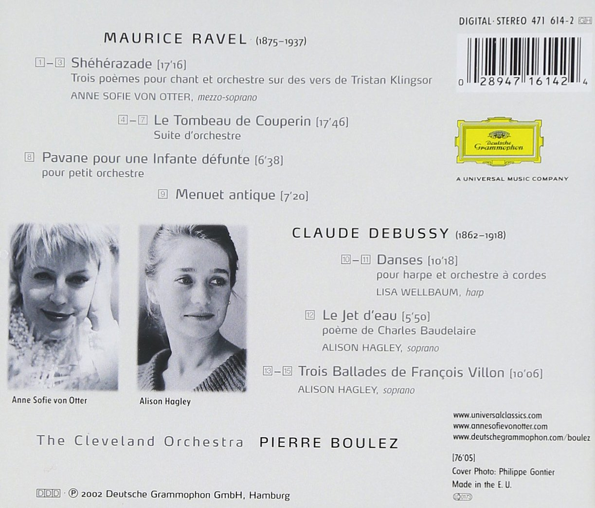 Ravel: Sheherazade; Le Tombeau de Couperin/Debussy: Ballades de Villon by Deutsche Grammophon