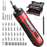 4V Cordless Electric Screwdriver Kit, USB Rechargeable Lithium ion Battery, LED Work Light, 32 pieces Screwdriver Bits…