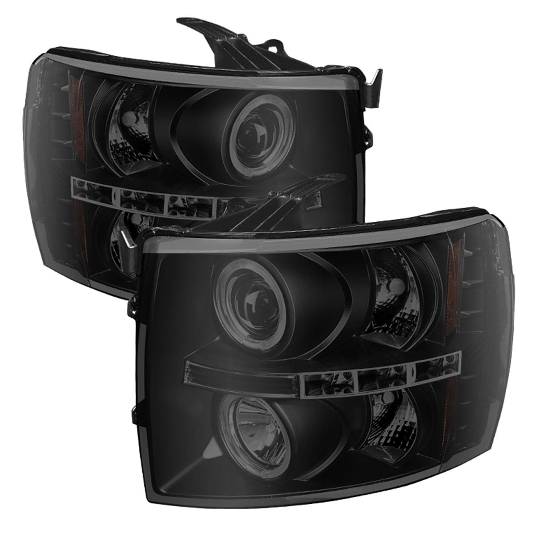 Spyder Auto PRO-YD-CS07-HL-BSM Chevy Silverado LED Halo Projector Headlight