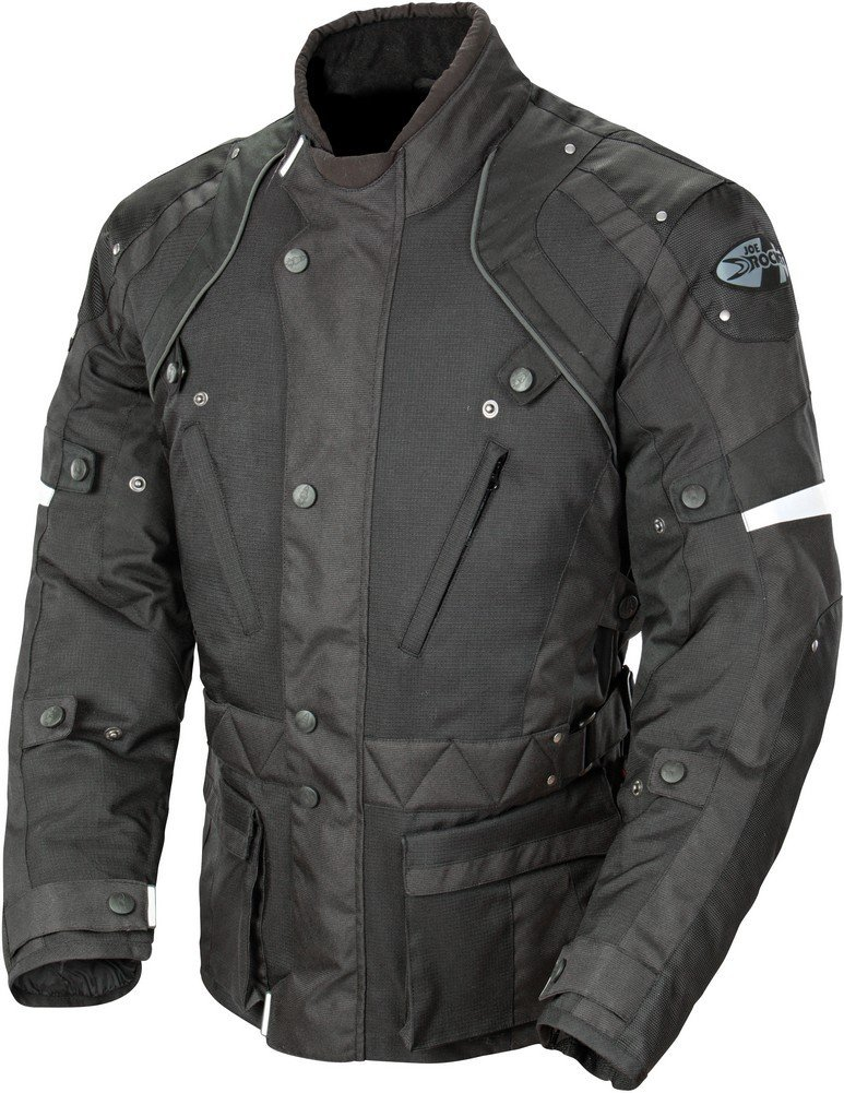 Joe Rocket Ballistic Revolution Men's Textile Motorcycle Riding Jacket (Black/Black, XX-Large) 1352-1006