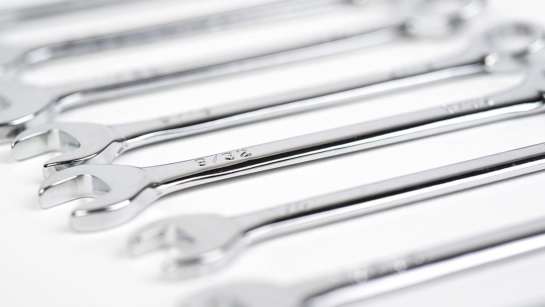 T/&E Tools 10pc SAE Mini Combination Wrench Set