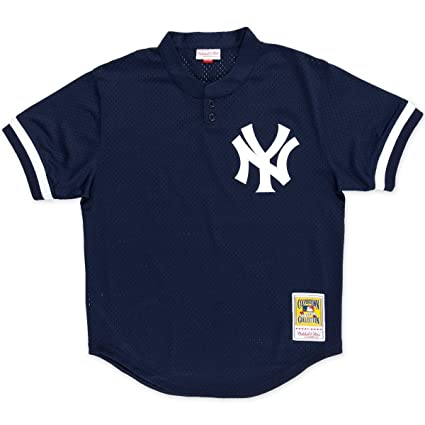 73eceaa8d Bernie Williams Navy New York Yankees Authentic Mesh Batting Practice  Jersey Medium (40)