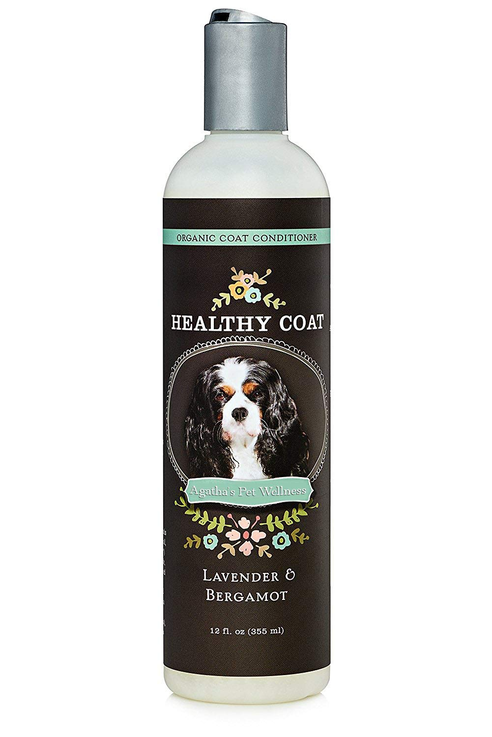 Agatha's Luxury Organic Lavender & Bergamot Dog Conditioner & Detangler - Nourishing & Soothing, for Healthy & Easy to Brush Coats ● Hypoallergenic, Sulphate Free ● 12oz by Agatha's Pet Wellness