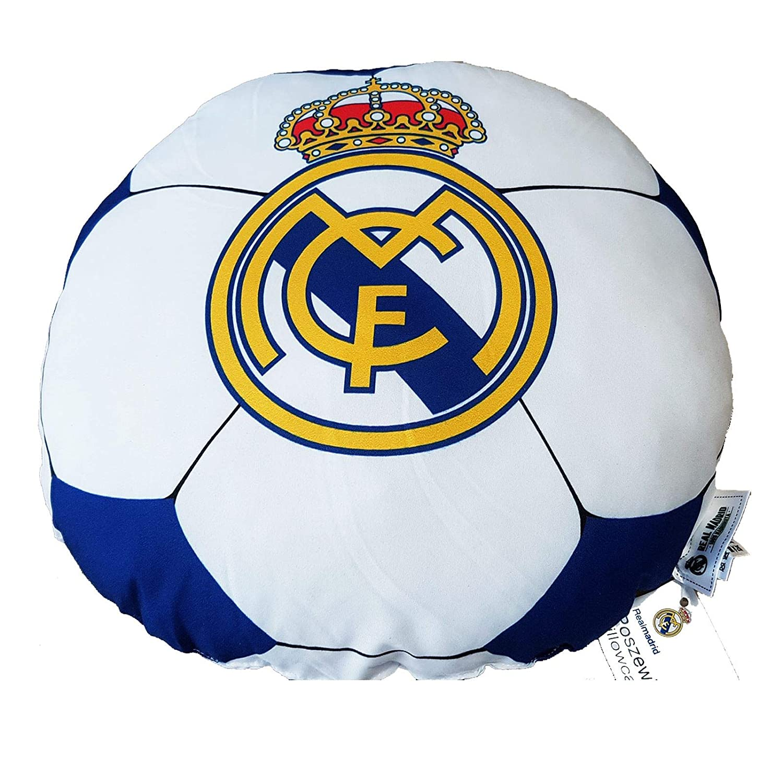 Real Madrid CF - Cojín Redondo Real Madrid 34 cm. Diámetro: Amazon ...