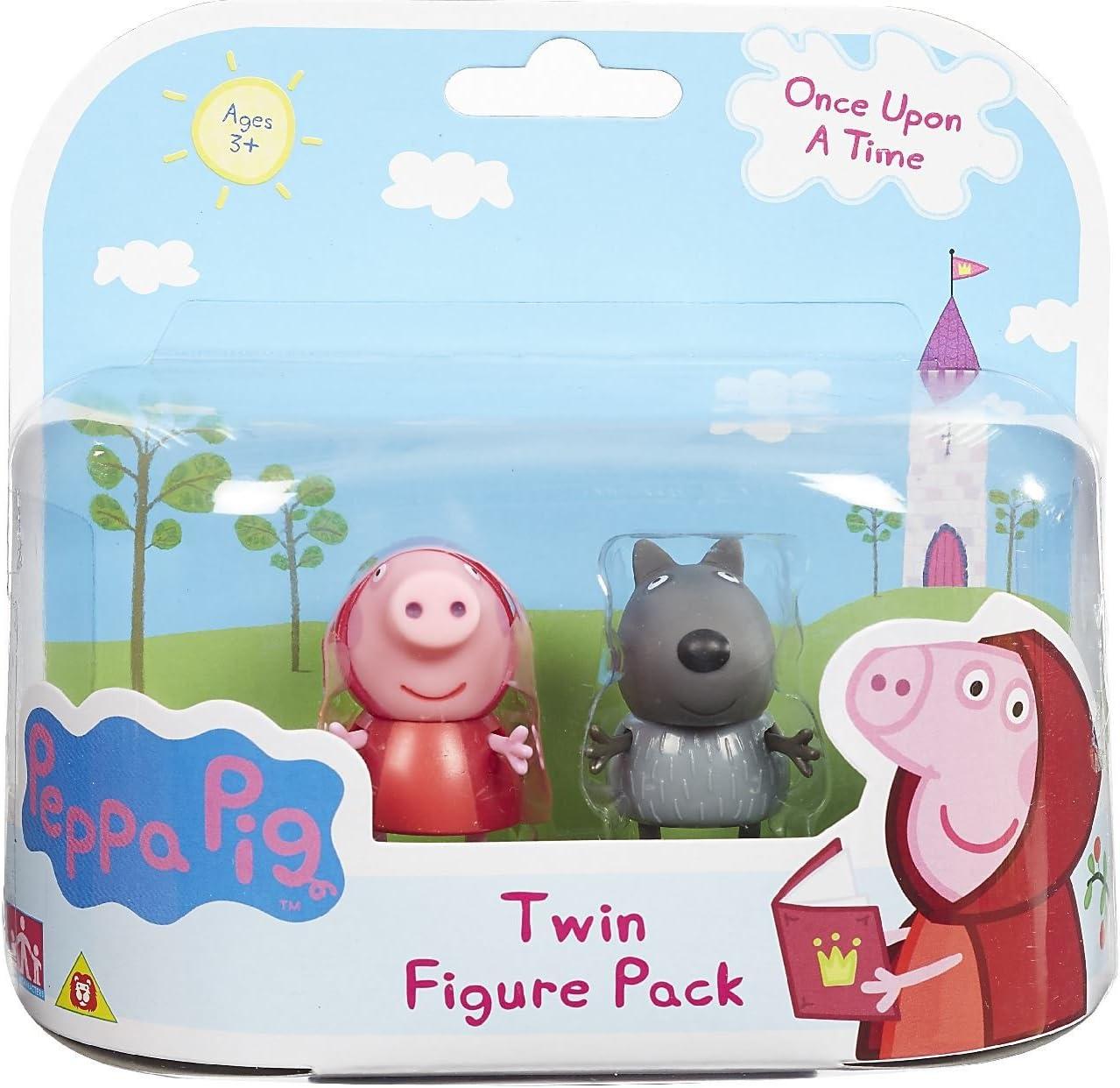 Peppa Pig : Once Upon a Time – Caperucita Roja Peppa et Danny el Lobo – 2 Figuras 5 cm: Amazon.es: Juguetes y juegos