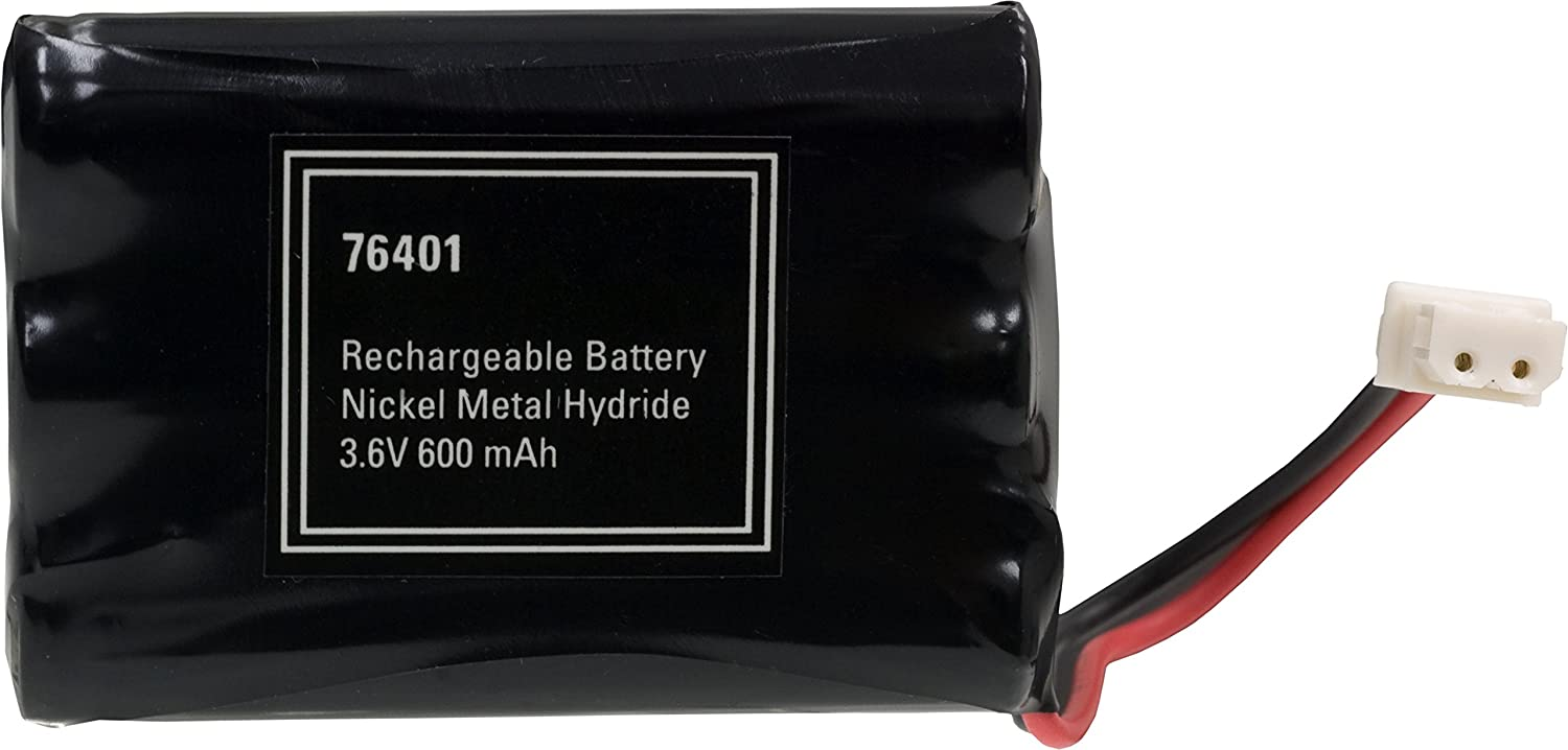 Power Gear Rechargeable Cordless Phone Battery, 3.6V, 600mAh Battery Pack, Nickel Metal Hydride, Cordless Phone Handset Compatible, 76401