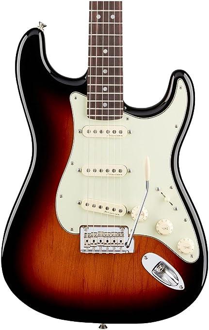 Fender 0147300300 Deluxe Roadhouse Stratocaster Diapasón de palisandro, guitarra eléctrica Sunburst de 3 colores