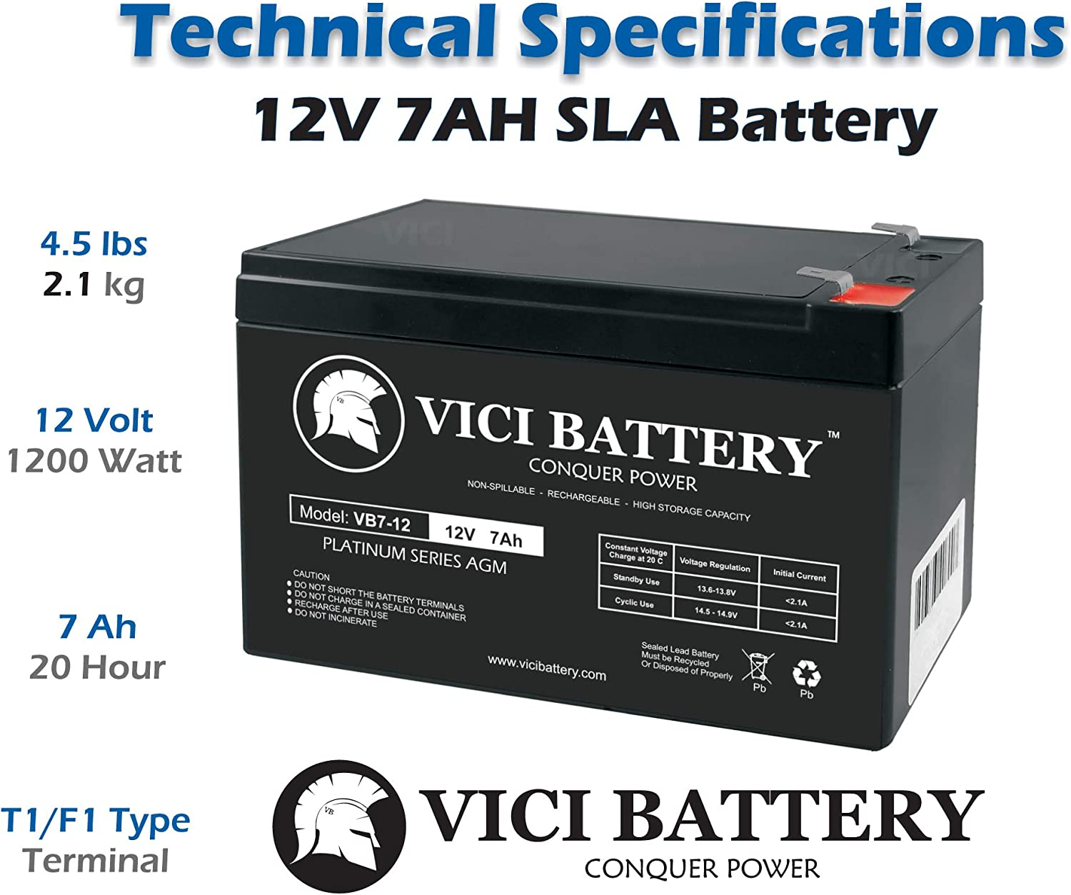 a Replacement by VICI Battery Brand Panasonic LC-R127R2P