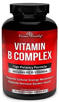 Divine Bounty Super B Complex Vitamins - Best Vitamin B Complex Capsules
