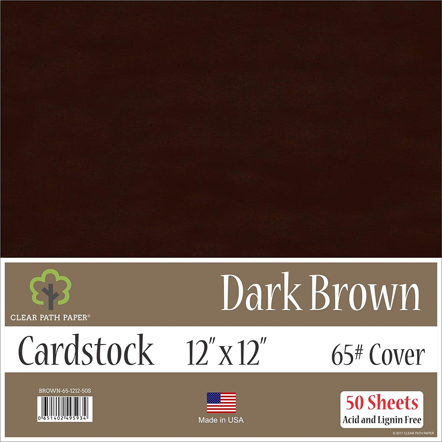 12 x 12 inch 50 Sheets Red Cardstock 65Lb Cover