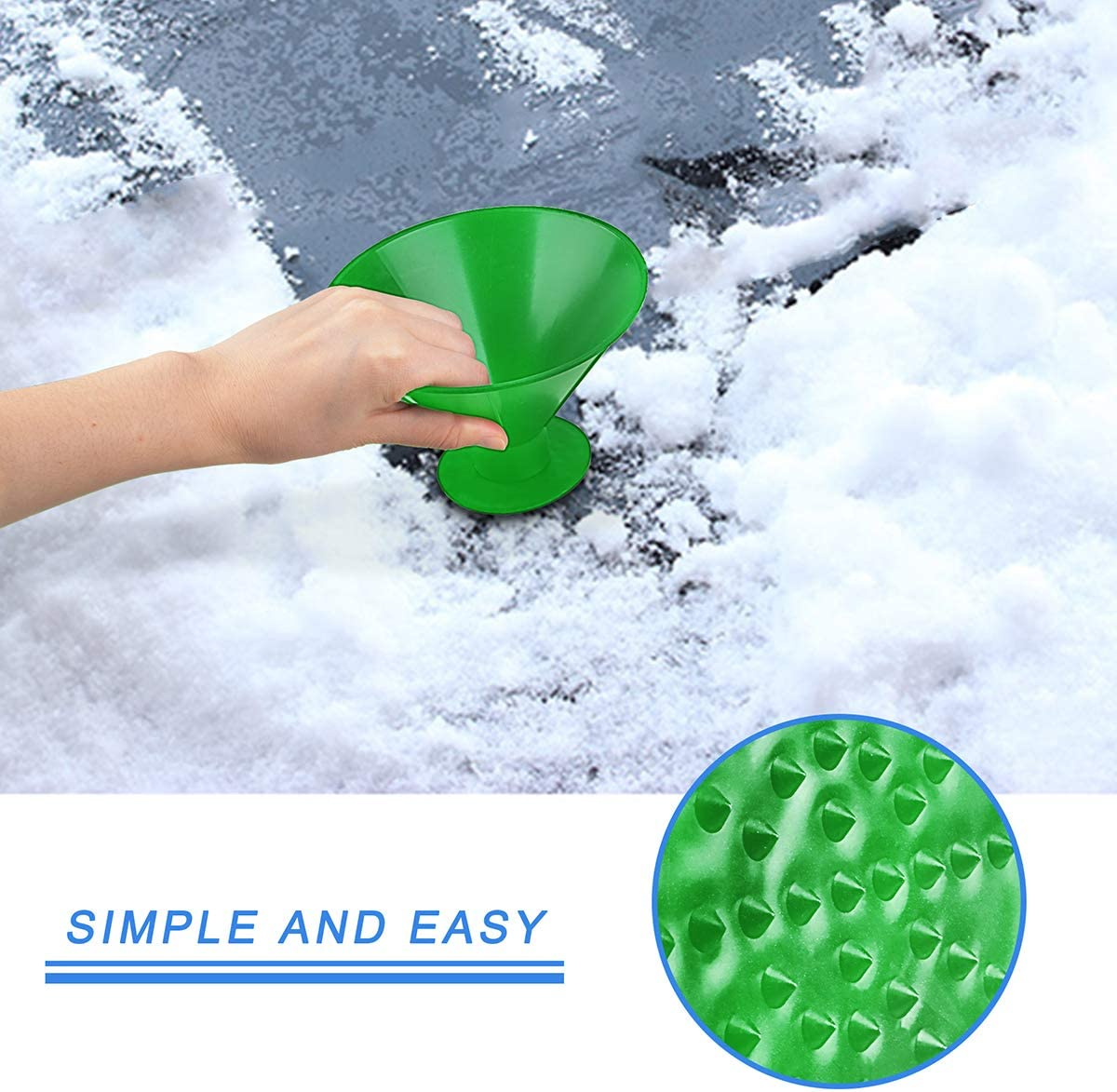 WeGuard Magical Car Ice Scraper Car Snow Removal Shovel Tool Cone-Shaped Ice Scrapers Car Windshield