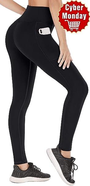 Heathyoga Yoga Leggings with Pockets for Women, Tummy Control Womens High Waist Yoga Pants with Pockets Workout Yoga Pants