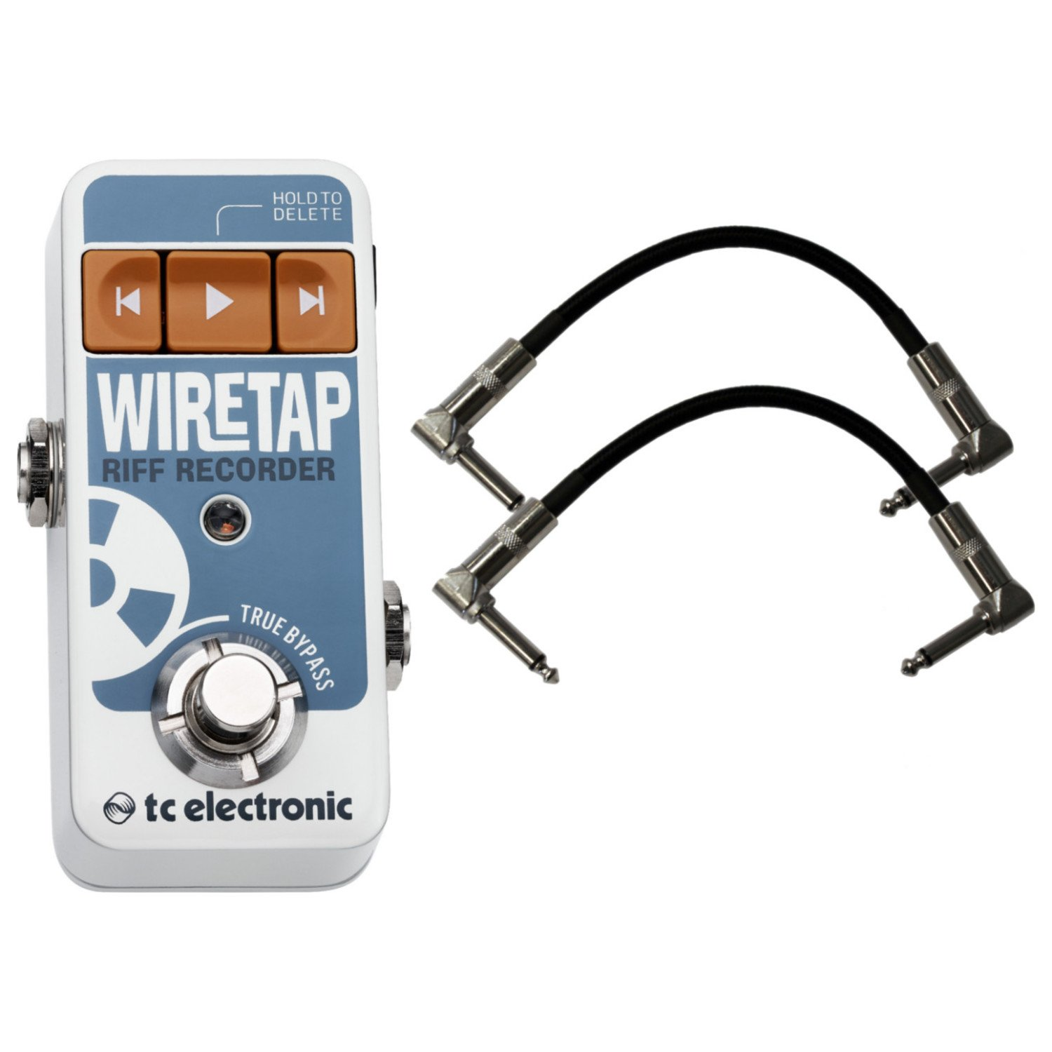 TC Electronic Wiretap Riff Recoder Pedal with Bluetooth and Smart Phone App w/ 2 Patch Cables