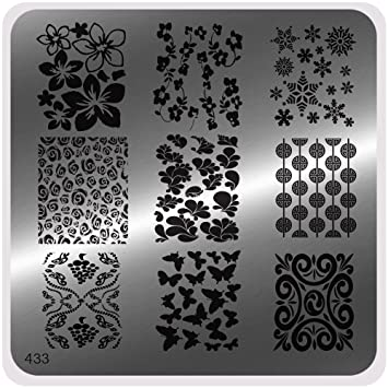 Moyou Nails Glam Style Stamping Nail Art Image Plate 433 Easy To