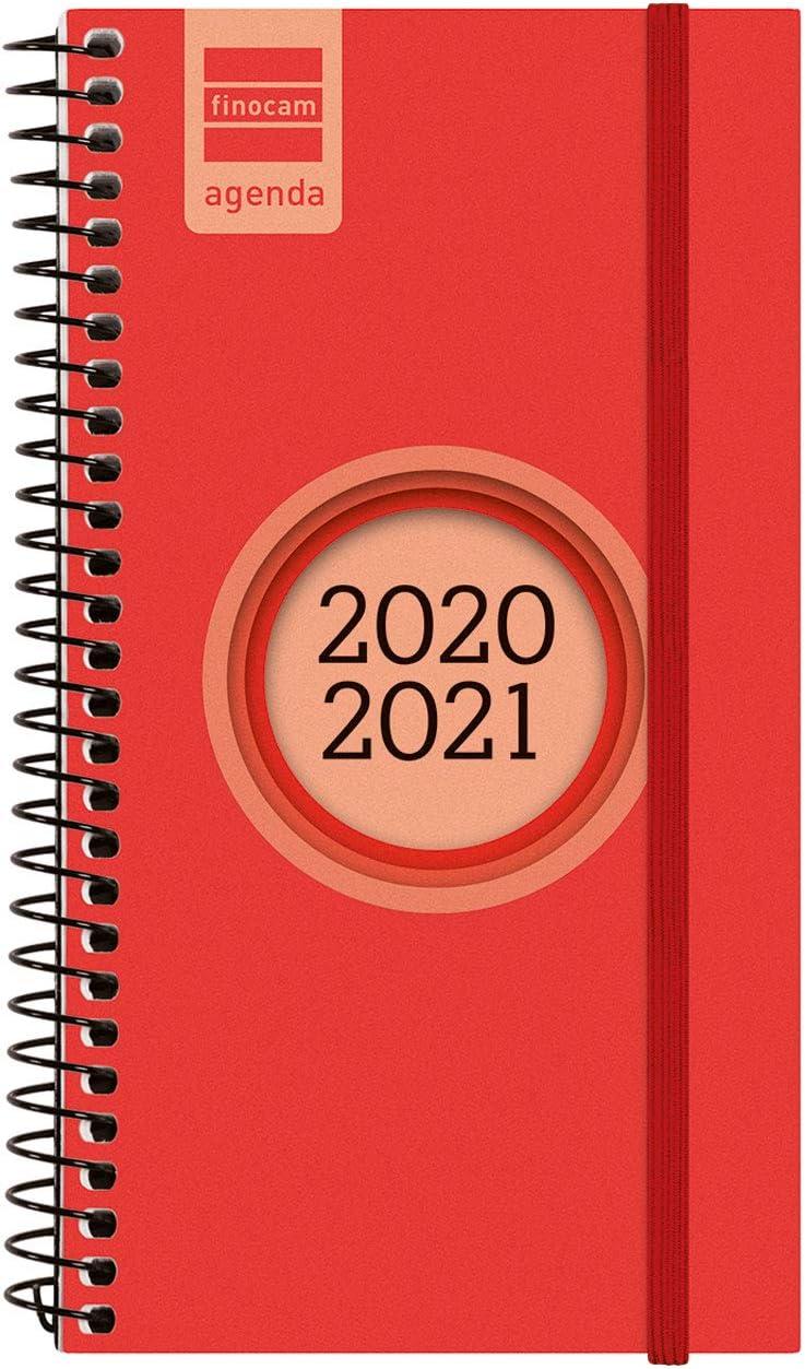 Finocam - Agenda Curso 2020-2021 E9, 94 x 171 Semana Vista Apaisada Espir Label, Rojo, Español