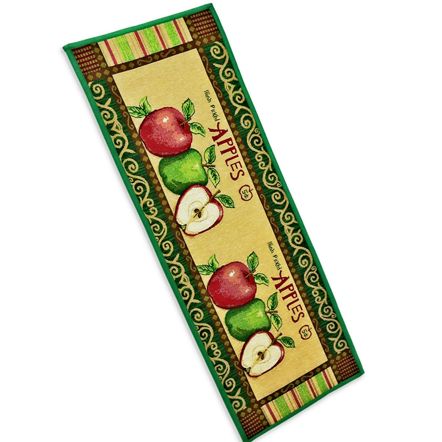 B&S FEEL Attractive Apple Pattern Bedroom Kitchen Mat Rug,47x18 Inches