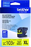 Brother LC-103Y DCP-J132 J152 J171 J4110 J552 J752 MFC-J245 J285 J4310 J4410 J450 J4510 J870 J875 Ink Cartridge (Yellow) in Retail Packaging