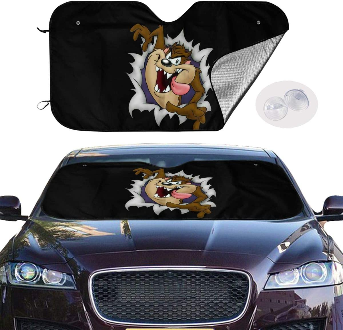 REECECAM Looney Tunes Tasmanian Devil Taz Windshield Snow Cover No More Scraping Car Fits Most Car 51.2 X 27.5