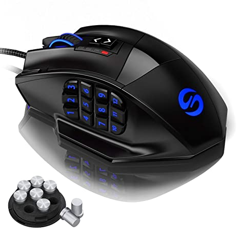 Best Mmo Mouse 2020.Amazon Com Utechsmart Venus Gaming Mouse Rgb Wired 16400