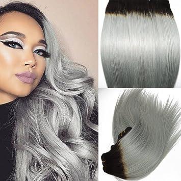 Tissage cheveux naturel gris