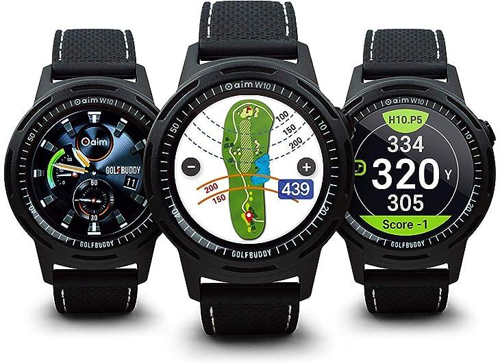 GOLFBUDDY GPS時計型ゴルフ距離測定器 aim w10 全世界4万ゴルフ場データ一生無料アップデート【Amazon.co.jp限定】