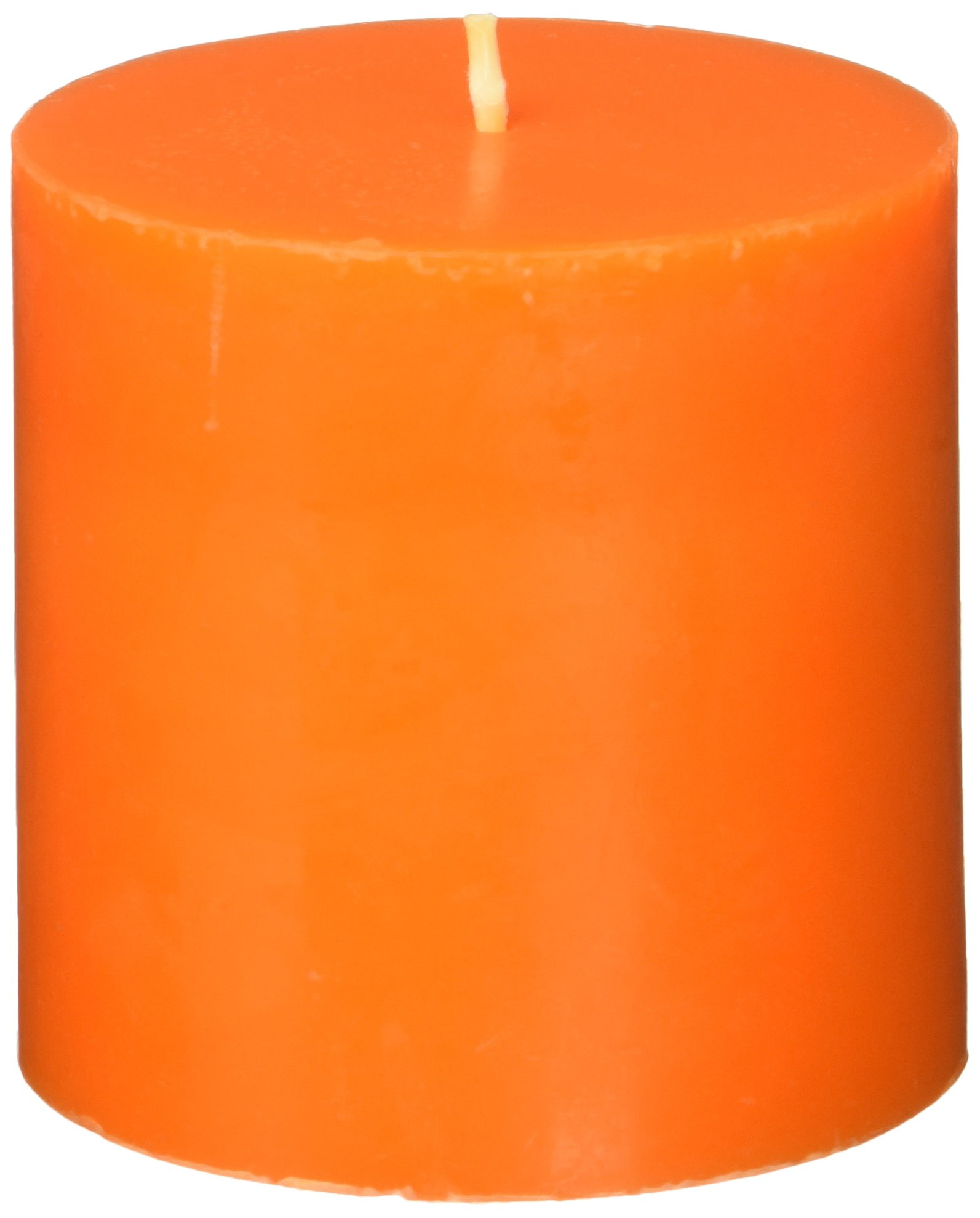 Zest Candle Pillar Candle, 3 by 3-Inch, Orange