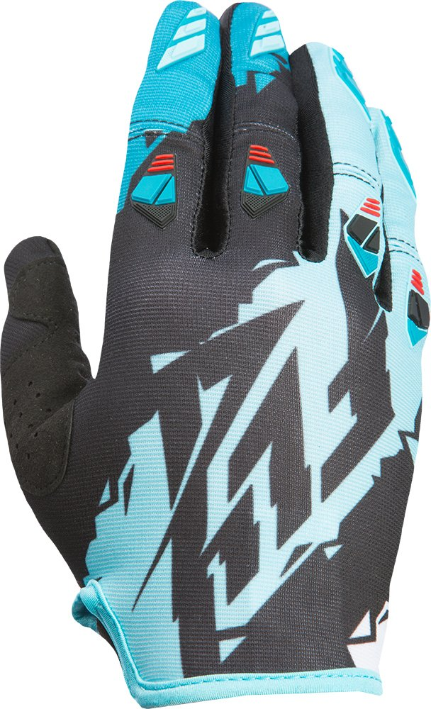 Fly Racing Unisex-Adult Kinetic Gloves Black//Dark Teal medium 370-41009