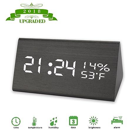 Amazon com: kids Alarm Clock, Digital Clock, 3 Brightness Levels, 3