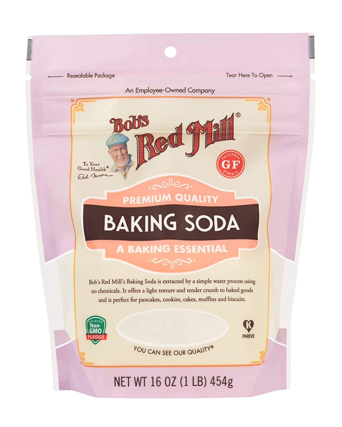Bob's Red Mill Baking Soda, 16 Ounce (Stand up Pouch)